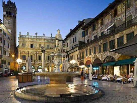 Italy, Veneto, Verona, Verona district, Fountain of Madonna